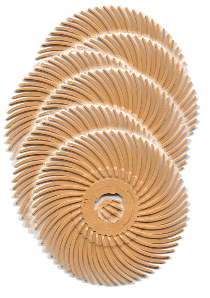3M Scotch-Brite Radial Bristle Discs, 2″ diameter Pumice 1,200 grit/pink