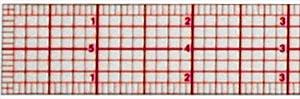 Ruler, Graph Beveled Ruler B-50