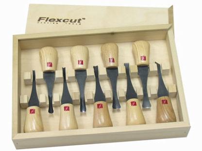 Flexcut 9 ps FR405 Deluxe Palm Gouge Set