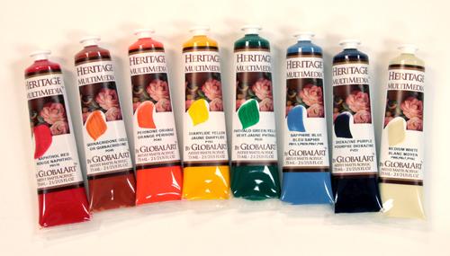 Heritage Matte Acrylic, 19 Colors-  New Color Set