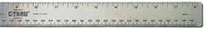 "Ruler, 12"" Flexible Cork-Backed Inch/Metric Stainless MR12"