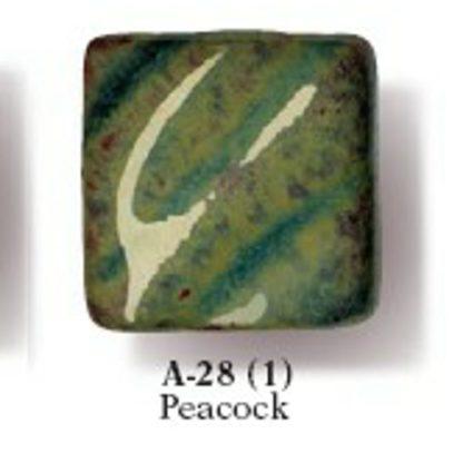 Artist's Choice Glazes - LEAD FREE - A-28 Peacock, [O] Pint Liq