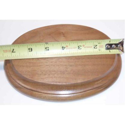 """Base Oval Walnut 6 x 8 x 3/4"""""""