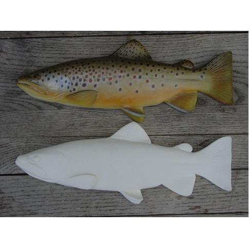 Wood fish carvings