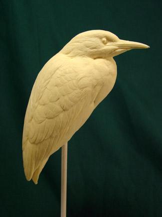 Heron, Blk. Cr. Night  - Bob Guge study cast