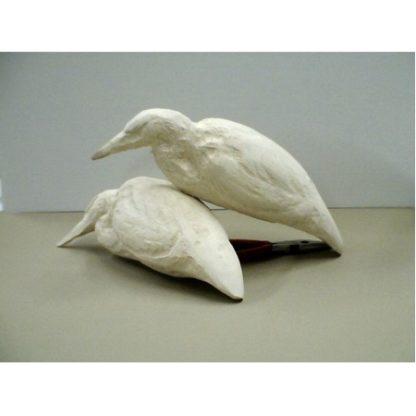 "1/3 size Blue Heron 10 1/2"" - Tupelo Roughout"