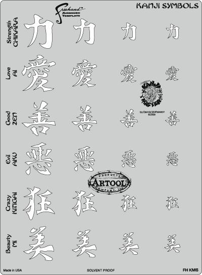 Kanji Symbols 7 x 5