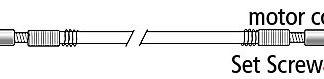 Foredom UA112 Set Screw for Key Tip Shafts, Motor Coupling End
