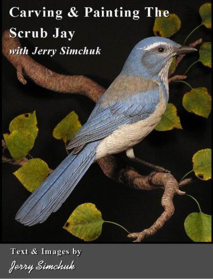KIT-SCRUB JAY  Tupelo WOOD CARVING KIT, Jerry Simchuk