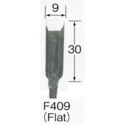 Automach #F409 9 mm Flat Gouge