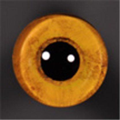 ON WIRE EYES - OWL Screech bld stip 10mm lg pupil straw yellow