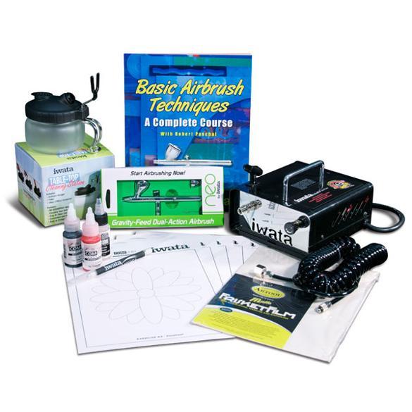 Iwata Airbrush Kit >> Iwata Beginner Airbrushing Kit 125