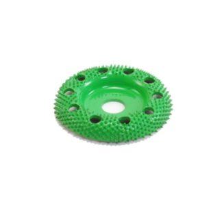 "Saburr-Tooth 2"" Donut Wheel Round Face W/ Holes (Coarse Grit)"